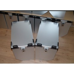 Maletas laterales aluminio Premium 1x41L+1x36L+ Kit de montaje para portamaletas de 16mm