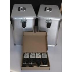 Maletas laterales aluminio Pro 2x32L+ Kit de montaje para portamaletas de 16mm