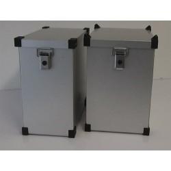 Maletas laterales aluminio Premium Light 2 x 41L + Kit de montaje para portamaletas de 16mm