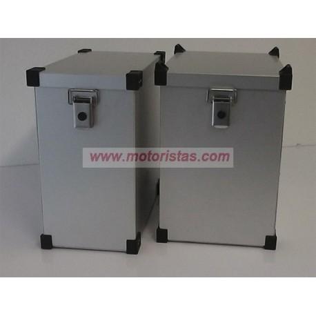 Maletas laterales aluminio Premium Light 2 x 36L + Kit de montaje para portamaletas de 16mm