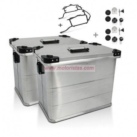 Kit 2 maletas Alu laterales de 45L + soportes