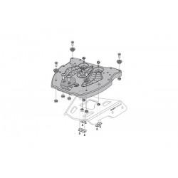 laca adaptadora QUICK-LOCK. Maleta superior TRAX. Nylon reforz.