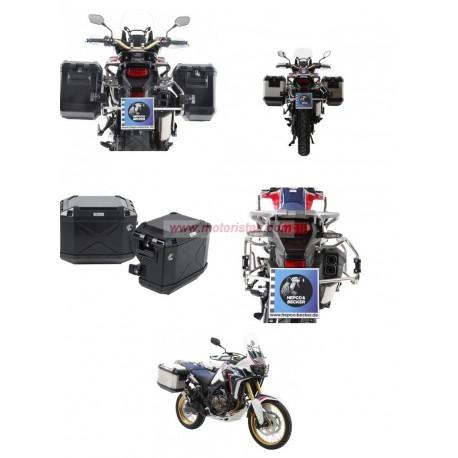 Set de maletas Hepco & Becker Xplorer Cutout con soportes