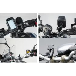 Kit universal de soportes del GPS Navi Case Pro S. Para manillares Ø 22, 28 mm, 1 pulgada