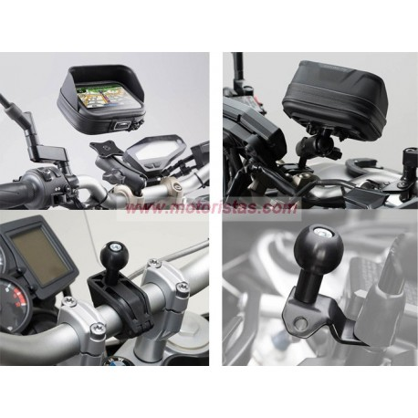Kit universal de soportes del GPS Navi Case Pro L. Para manillares Ø 22, 28 mm, 1 pulgada