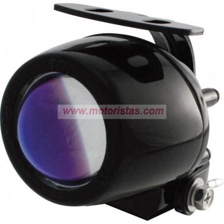 Mini-elipsoide antiniebla lente azul