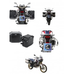 Set de maletas H&B Xplorer Cutout con soportes Honda CRF 1000 Africa Twin Adventure Sports (18-)