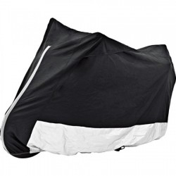 outdoor cover with window black/silver